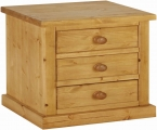 Matlock 3 Drawer Bedside