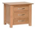 York 3 drawer bedside