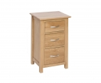 3 drawer tall bedside